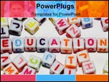Conceptual image of education using colored alphabet cubes