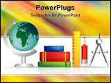 PowerPoint Template - set of education objects for the classroom or learning