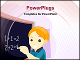 PowerPoint Template - An Illustration of A Child at Class with Clipping Path