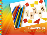 PowerPoint Template - educational tools set for the primary school