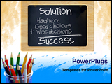PowerPoint Template - Chalkboard with writing and colored pencil