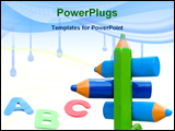PowerPoint Template - pencils referent for educational guidelines