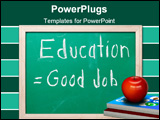 PowerPoint Template - The concept that staying in school equates to getting a good job.