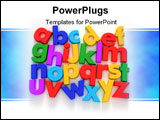 PowerPoint Template - Plastic multicoloured Alphabet on a neutral background