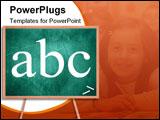 PowerPoint Template - blank chalkboard