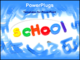 PowerPoint Template - 3d alphabets making the word school