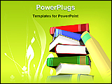 PowerPoint Template - pillar of books
