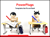 PowerPoint Template - illustrated image of students