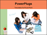 PowerPoint Template - Beautiful students studying