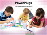 PowerPoint Template - Children drawing