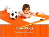 PowerPoint Template - Kid is relaxing in the sun and reading a book