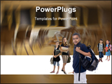 PowerPoint Template - Young kids are ready for school. Education family learning