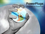 PowerPoint Template - hand holding the world