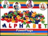 Colored plastic alphabet