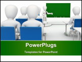 PowerPoint Template - 3D image, characters at the school on a white background