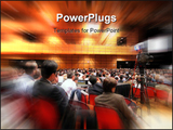PowerPoint Template - people attending a conference