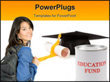PowerPoint Template - Education Fund concept of saving for college