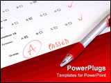 PowerPoint Template - passed test - school college or university. teaching and education concept.