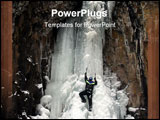 PowerPoint Template - ice climbing haylite canyon, montana