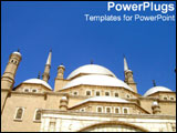 PowerPoint Template - Architectural view of white building in Egypt.