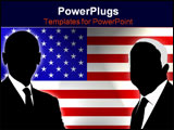 PowerPoint Template - the two candidates of the US election