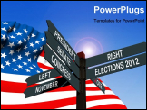 PowerPoint Template - election 2012 choice conceptual post