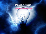 PowerPoint Template - light bulb on blue electrifying background