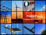 PowerPoint Template - Set of twelve images relating to electricity