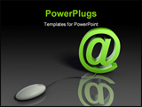 PowerPoint Template - Web Email Using Internet and Mouse in 3d