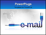 PowerPoint Template - Illustration of a electrical chord with email letters