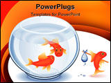 PowerPoint Template - Goldfish moving from his fishbowl with bundle