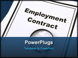 PowerPoint Template - Employment Contract and magnifier business concept for background