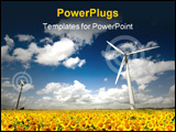 PowerPoint Template - Wind Turbine farm within the UK. See my gallery for more