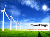 PowerPoint Template - Energy cleaned up from the sun