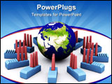 PowerPoint Template - power plants consuming energy contributing to global warming