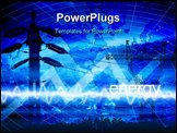 PowerPoint Template - energy and power illustration with abstract background