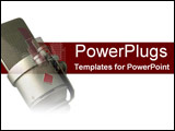 PowerPoint Template - Close up of microphone on red and white
