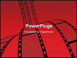 PowerPoint Template - 3d Film Strip. white background. Digitally Generated.