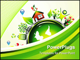 PowerPoint Template - Go green recycle and environment background with high contrast colors