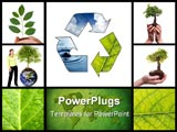 PowerPoint Template - Environmental themed collage made from five images