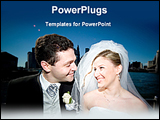 PowerPoint Template - happy bride and groom