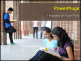 PowerPoint Template - Group of Indian Students studying in college.