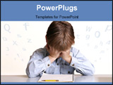 PowerPoint Template - frustrated with school or child with learning difficulties.