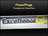 PowerPoint Template - Only the level of excellence is acceptable as a standard