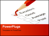 PowerPoint Template - a pen on a form with excellent checked