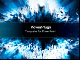 PowerPoint Template - Blue star explosion.