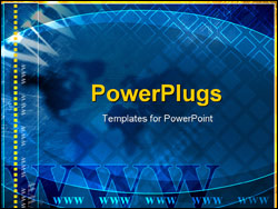 PowerPoint Template - blue global and communication theme