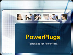 PowerPoint Template - businessmen and woman working together