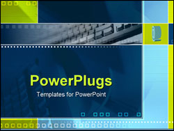 PowerPoint Template - spinning @ symbol and keyboard