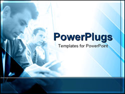 PowerPoint Template - businessmen on phone